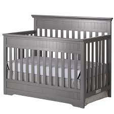 Gray Convertible Crib On Me Chesapeake 5 In 1 Convertible Crib In Gray 761 Sg