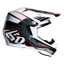 ufo motocross helmet 6d atr 1 blade helmet white black sixstar racing