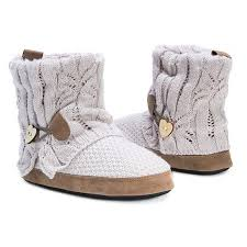 target womens boots grey s muk luks patti sweater knit bootie slippers target