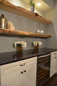 kitchen floating live edge shelves shelf brackets floating