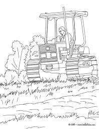 farmer on his tractor coloring pages hellokids com