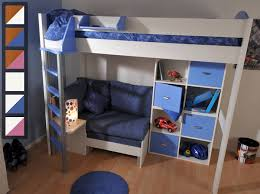 High Sleeper Beds With Sofa Stompa Casa 7 High Sleeper Bed With Sofa Bed And Cupboards