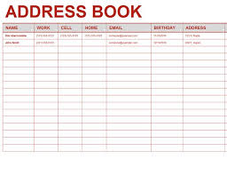 phone list template address and phone list office templates