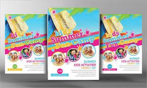 23 kids summer camp flyer templates free u0026 premium download