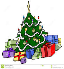 christmas tree with presents royalty free stock image image