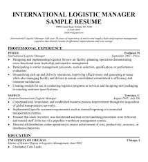 Sample Resume For Procurement Officer by Logistics Resume Logistics Resume Logistics Management Specialist