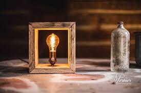rustic shadow box edison lamp charles vernier photography
