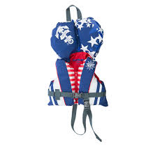 infant motocross gear nylon infant red white blue life vest fly racing motocross