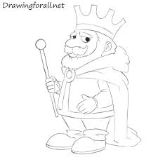 how to draw a cartoon king drawingforall net
