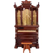 dollhouse miniature pipe organ and swivel bench by bespaq mid