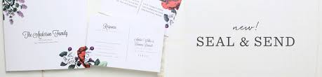 send and seal wedding invitations seal and send wedding invitations all in one wedding invitations