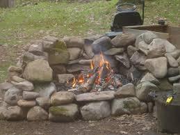 Rock Firepits Creek Rock Pit Fireplace Design Ideas
