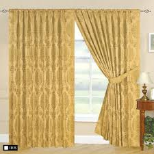 Designer Tie Backs For Curtains Fully Lined Designer Jacquard Curtains With Tie Back Anne Gold