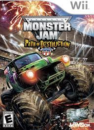 truck monster video amazon com monster jam path of destruction nintendo wii video