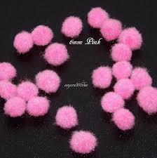 pom poms 6mm hobby craft 10 decorative colours christmas children