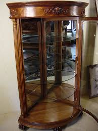 furniture endearing corner china hutch with glass window door