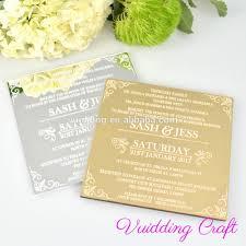 Craft Invitation Card Acrylic Mirror Wedding Invitation Card Acrylic Mirror Wedding