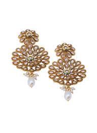 danglers earrings design shillpa purii flower pearl dangler shop earrings at