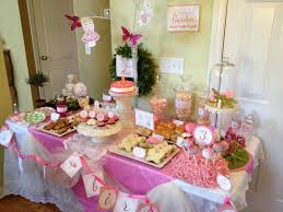baby birthday decoration at home elegant party setting ideas gold baby showers shower