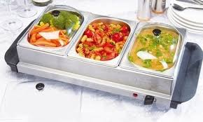 three section buffet warming tray groupon goods