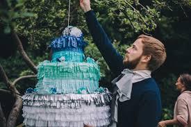 wedding cake pinata something blue wedding shoot the house that lars built