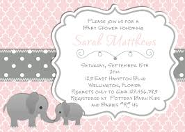 Invitation Cards For Christening Elephant Baby Shower Invitation Baptism Or Christening Pink