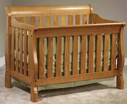 Oak Convertible Crib Oak Convertible Crib Sleigh Solid Wood Convertible Crib Lights House
