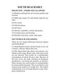 south beach diet meal planning for phase 1 and phase 2 diet plan