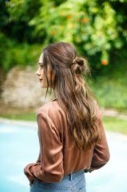 Best 25 Half Bun Ideas On Pinterest Top Knot Half Braided Hair