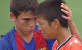 barcelona youth soccer team s heartwarming sportsmanship