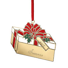 custom brass christma ornament present ornament