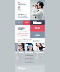 job seekers website template