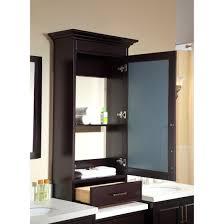 home decor espresso medicine cabinet with mirror modern home