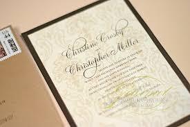 Damask Wedding Invitations Christine Christopher Brown Sugar Damask Wedding Invitations