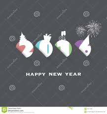 simple new year card cover or background design template with