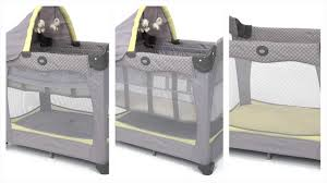 Graco Pack N Play Bassinet Changing Table by Graco Travel Lite Crib With Stages Youtube