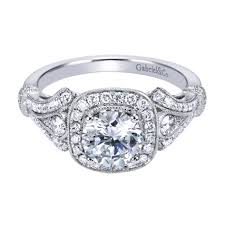 gabriel and co engagement rings gabriel co engagement rings white gold cushion 61ctw