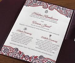 catholic wedding invitation mehndi indian letterpress wedding card naija invitations by ajalon