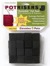 amazon com potrisers pr16 invisible pot feet black 16 pack