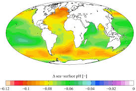 Proportional World Map by Ocean Acidification Wikipedia