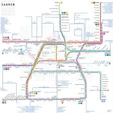 Transport Map Zagreb Public Transport Jug Cerovic Architect