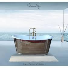 chantilly luxury designer freestanding cast iron mirror bath