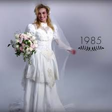 wedding dress 100 100 years of wedding dresses in just 3 minutes martha