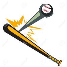 bat hitting baseball clipart clipartxtras