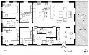 plan cuisine l plan maison 120m2 3 chambres plan maison en l 4 chambres 3 1