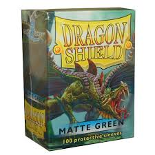 card sleeves dragon shield green matte 100 ct 5706569110048