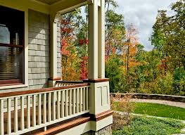 porch railing ideas porch traditional with autumn deck fall grass