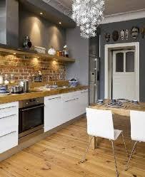 cuisine avec plan de travail en bois cuisine blanche plan de travail bois 2017 avec photos cuisine