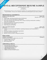 Receptionist Resume Sample by Dental Receptionist Resume Sample Http Resumesdesign Com