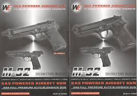 free download manual for we m 92 gas powered gun instruction